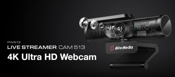 Avermedia Live Streamer CAM 513 - PW513 4K resolution Sony® Exmor R™ 4K CMOS