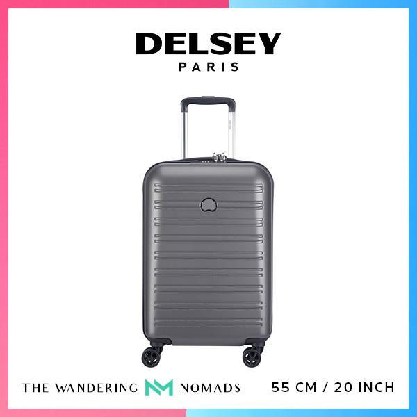 Delsey Segur 2.0 55cm 4 Double Wheels Trolley Case Luggage 20inch - Grey