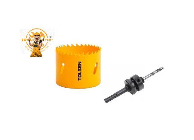 Tolsen Tools by EgHardware, 133mm Bi-metal Holesaw 1 pcs c/w Arbor 2 SDS adaptor