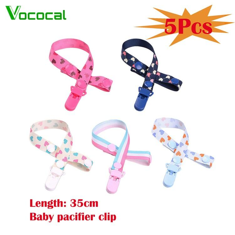 Vococal 5pcs Unisex Baby Pacifier Clip Teething Ring Holders Modern Design For Baby Boys And Girls - Intl By Vococal Shop.