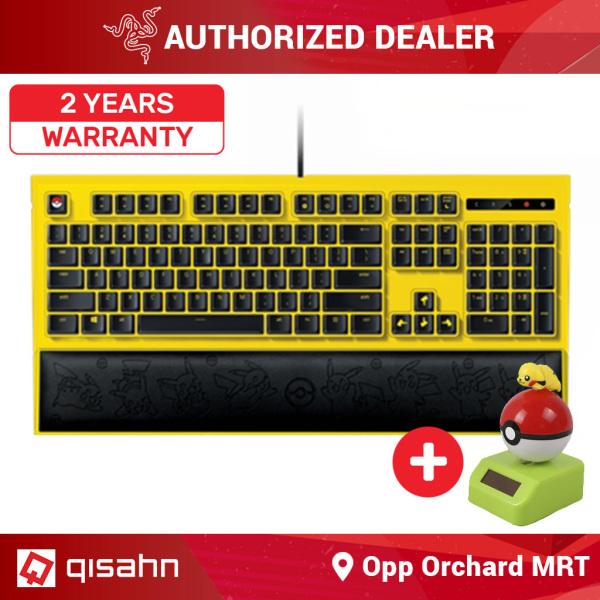 Razer Pokemon - Pikachu Limited Edition Backlit Keyboard + FREE Yurayura Pikachu Mascot Singapore