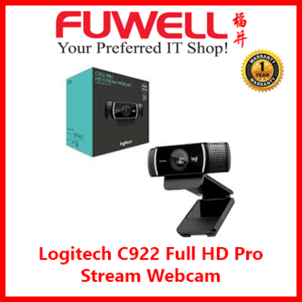 Logitech C922 Full HD Pro Stream Webcam with Background Replacement Feature and Tripod for Video [ Work From Home, Home Based Learning, Video Call ]