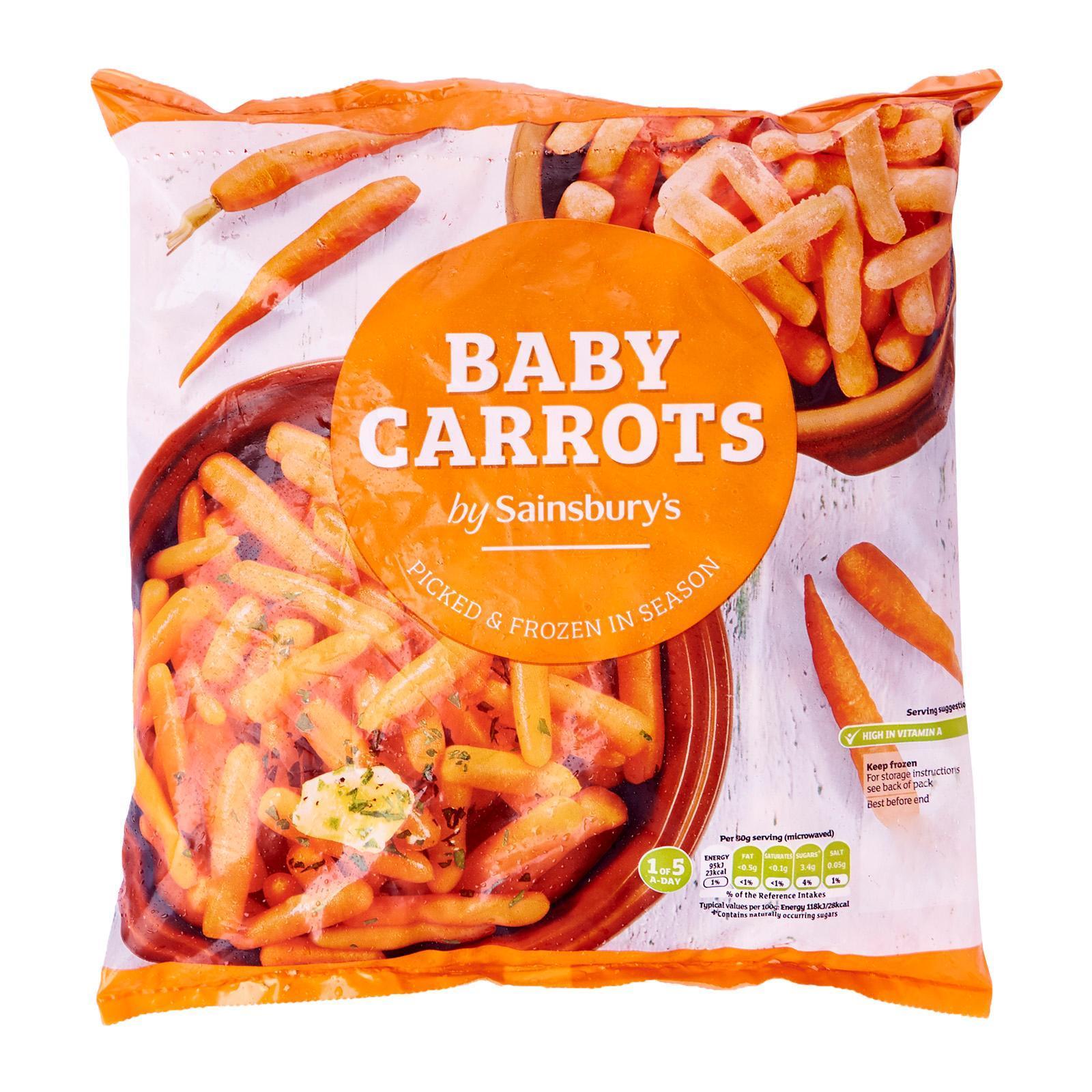 Sainsbury's Baby Carrots - Frozen