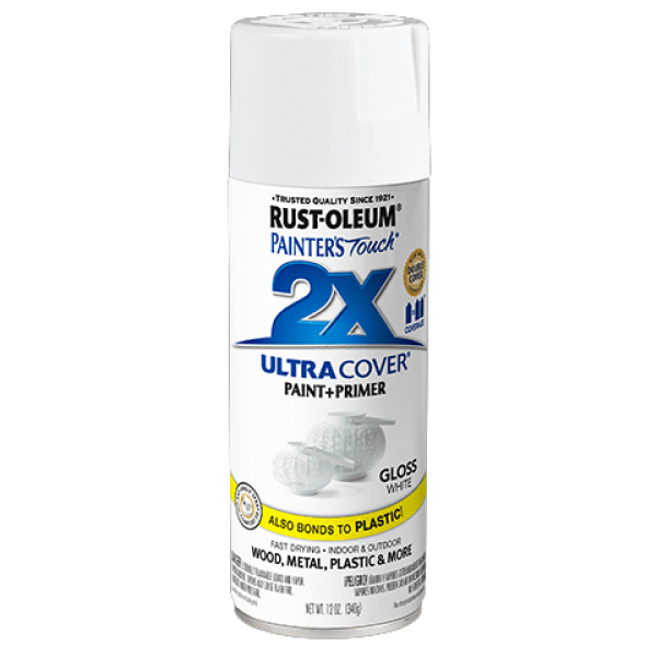 Rust-Oleum Ultra Cover 2X Spray Paint 12oz (Gloss White) RustOleum