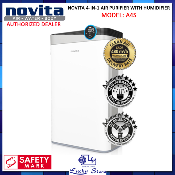 NOVITA A4S 4 IN 1 AIR PURIFIER WITH HUMIDIFIER, LOCAL WARRANTY SET, FREE DELIVERY Singapore