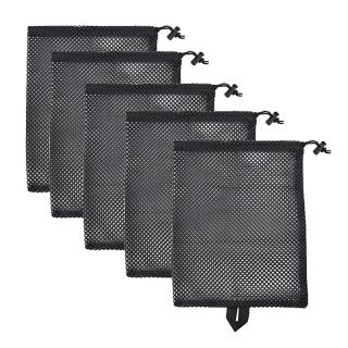 5Pcs Durable Nylon Mesh Receive Bag, Drawstring Bag Outdoor Travel Stuff Sack Storage Bag thumbnail