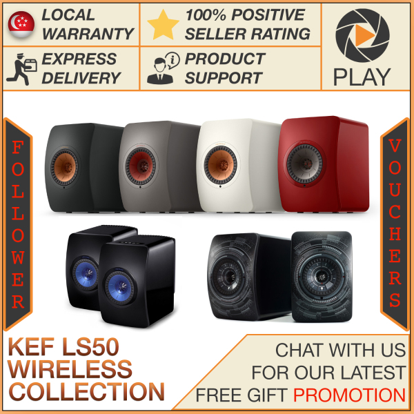 **PRE-ORDER LS50W II** KEF LS50 Wireless Collection Active Bookshelf Speakers LS50W II LS50W 2 (FOC installation) Singapore