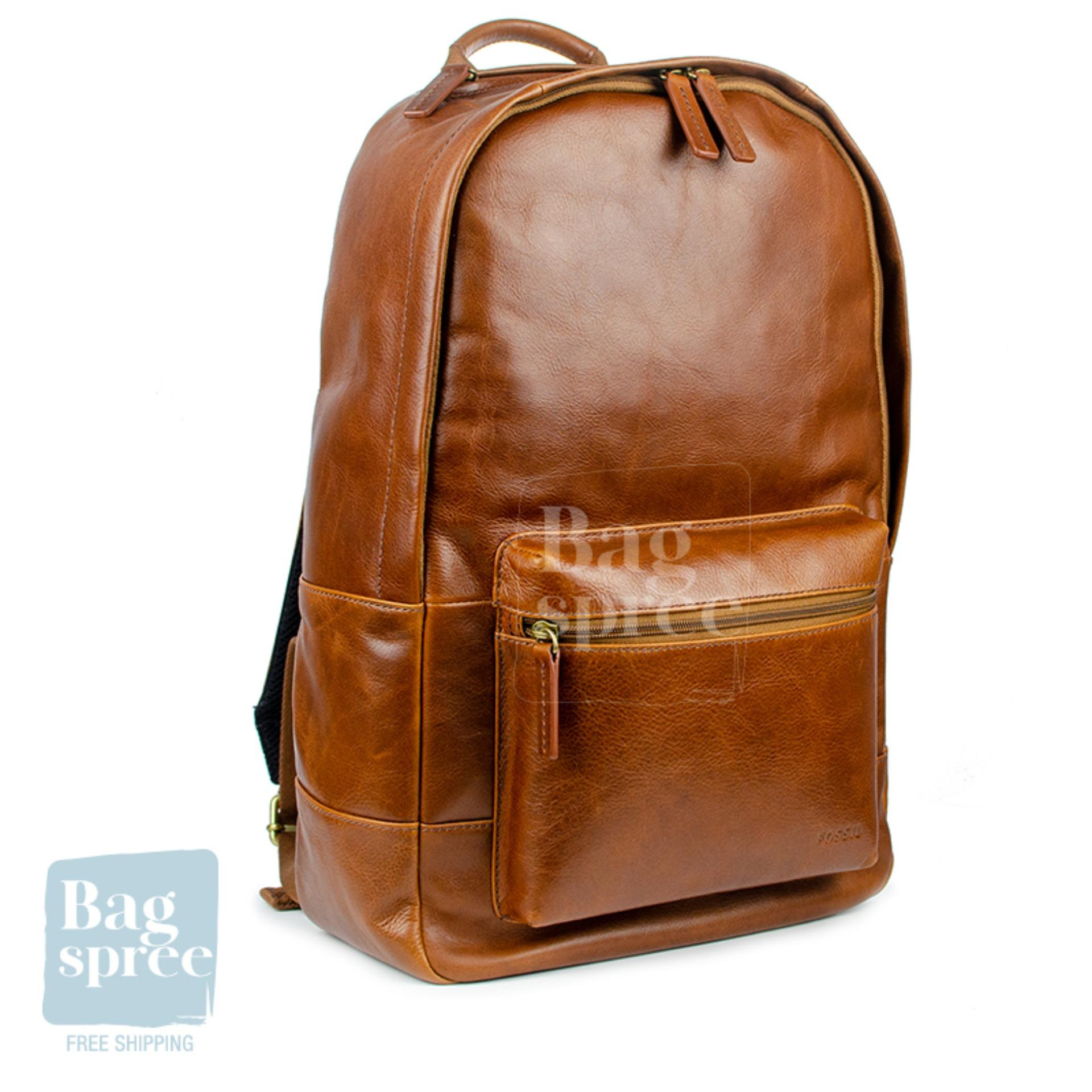*Authentic & Brand New* Fossil Estate Casual Cognac Leather Backpack MBG9242222 [MEN9%] [FS]