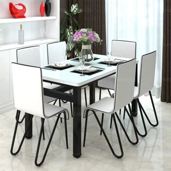 KAISER Modern Glossy Piano Dining Table & Chairs