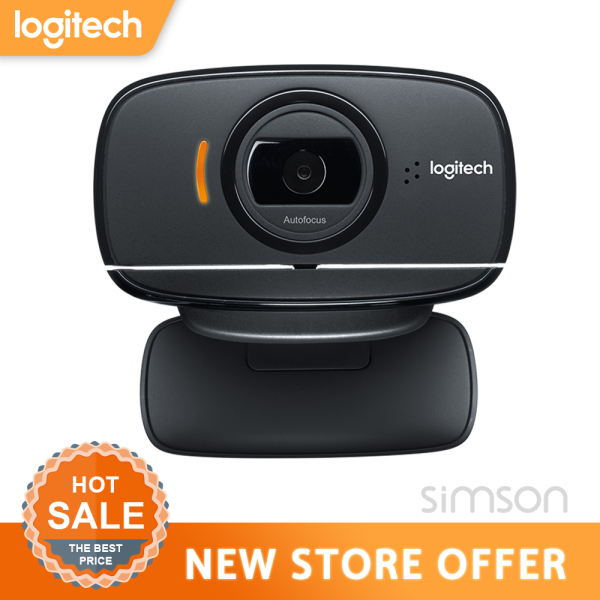 Logitech B525 1080P Full HD Webcam Foldable Business Meeting Laptop Monitor Web Cam Autofocus Video Chat USB Web Camera With Mic and Clip For Android Windows MacOS