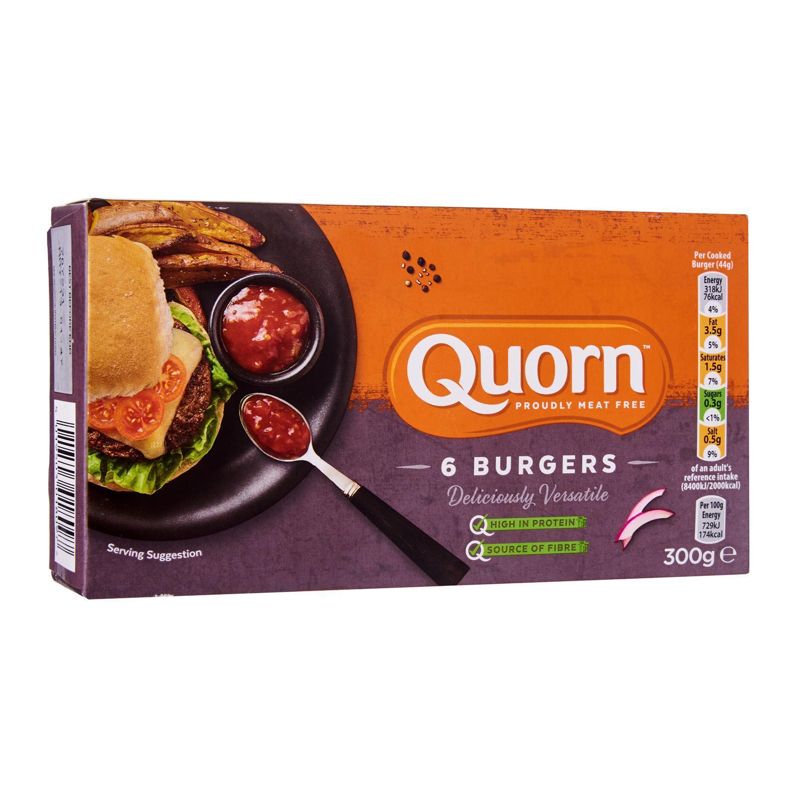 Quorn Burgers - Frozen By Redmart.