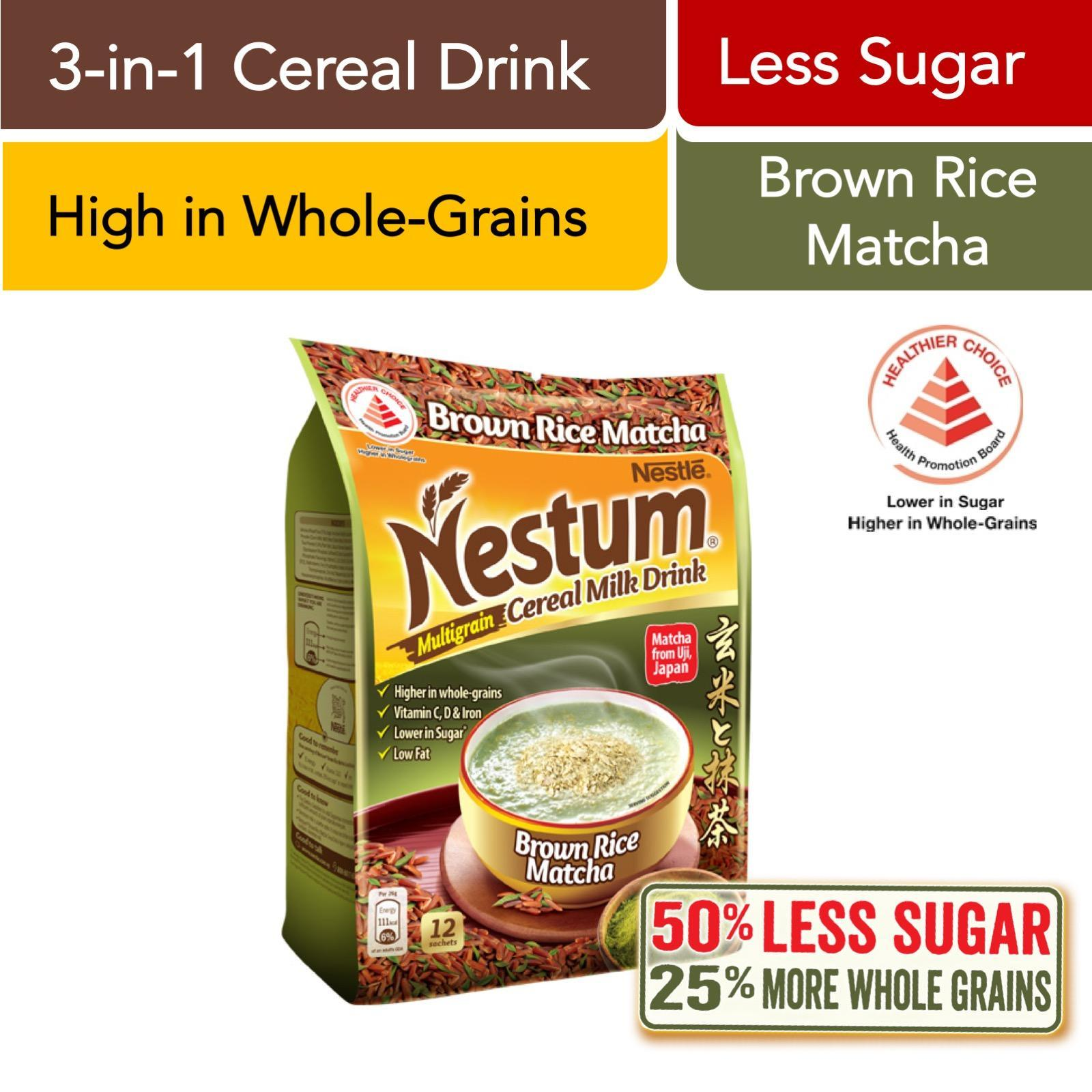 Nestum 3in1 Cereal Drink Brown Rice Matcha 12 X 26g By Redmart