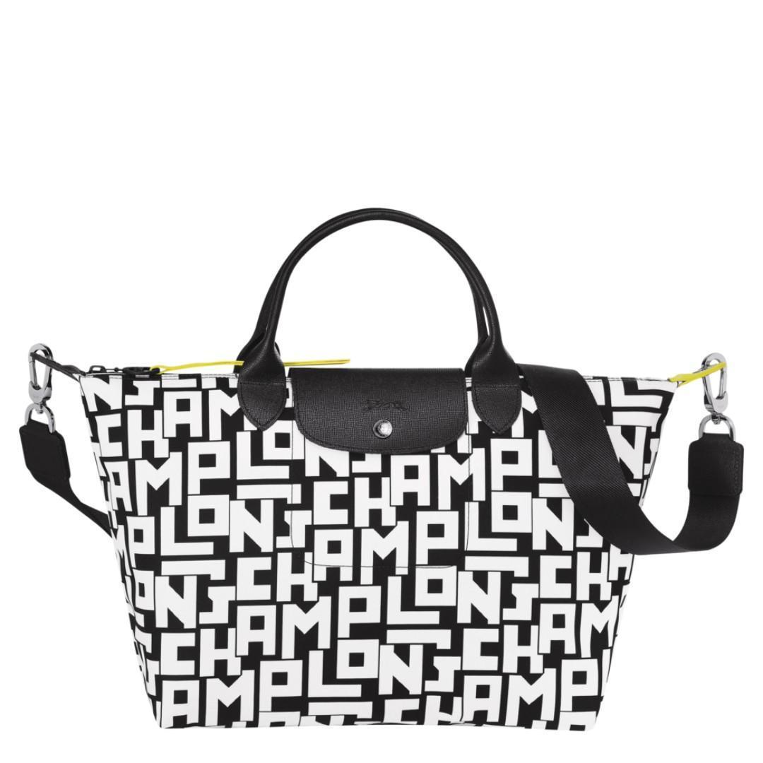 Longchamp Le Pliage LPG 1515 Medium Top-Handle Bag - White