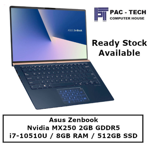 [Ready Stock] Asus Zenbook UX433FLC 1.09Kg | 14.0 FHD 100% sRGB | i7-10510U | 16GB RAM | 1TB PCIe SSD | Geforce MX250 Graphics | 2 Yrs ASUS  Warranty