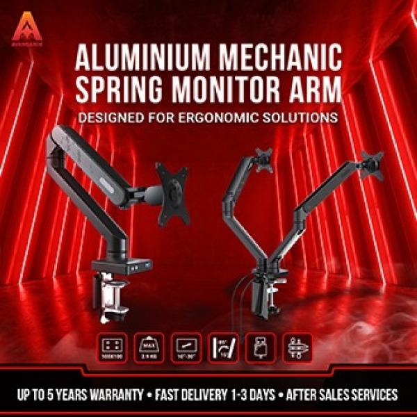 Avangarde Aluminium Mechanic Spring Monitor Arm