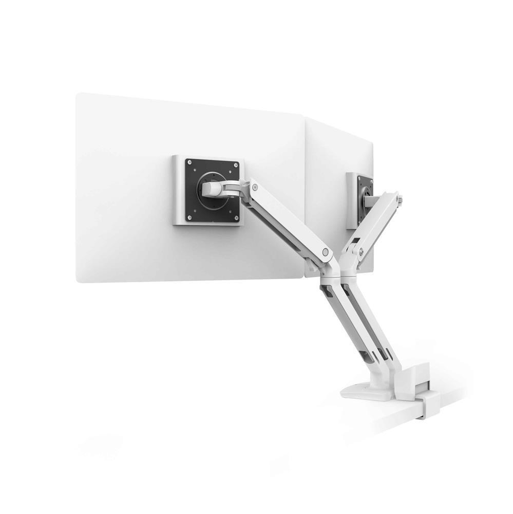 Ergotron MXV Desk Dual Monitor Arm, white (Top Mount C-Clamp)