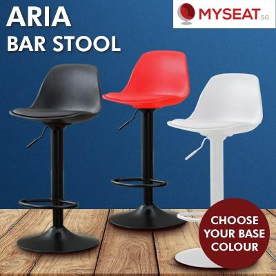 MYSEAT.sg AIRA Adjustable Bar Stool with Cushion