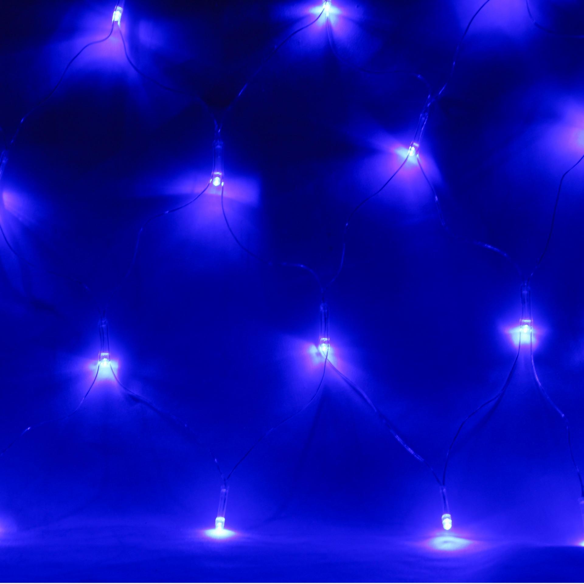 Partyforte Hari Raya 96 Bulb Led Netting Light (2.5X0.4M)-Blue Decorations