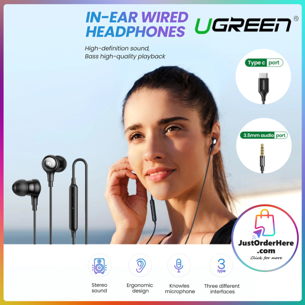 Ugreen 3.5mm/TypeC Wired In-Ear Earphones with MIC Singapore