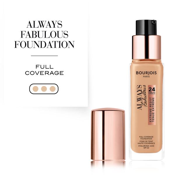 Buy Bourjois Always Fabulous 24H Long Lasting Foundation 30ml Singapore