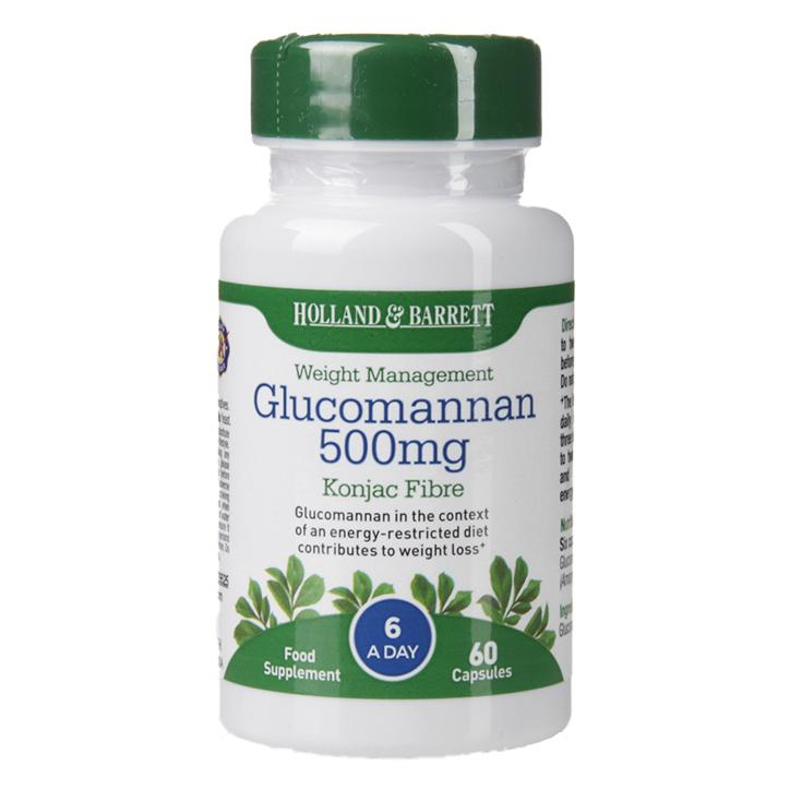Holland Barrett Glucomannan 500mg 60 Capsules