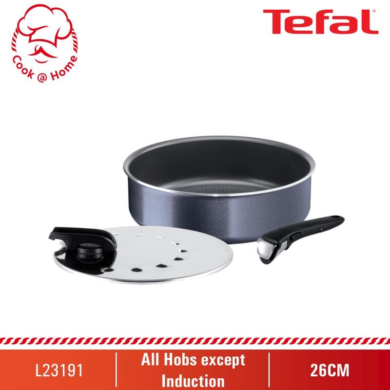 Tefal Ingenio Elegance 3pcs set (Sautepan 26cm+Glass Lid+Removable Handle) L23191 Singapore