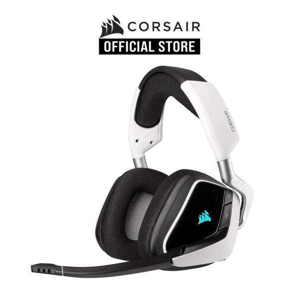 CORSAIR VOID RGB ELITE Wireless Premium Gaming Headset with 7.1 Surround Sound — White