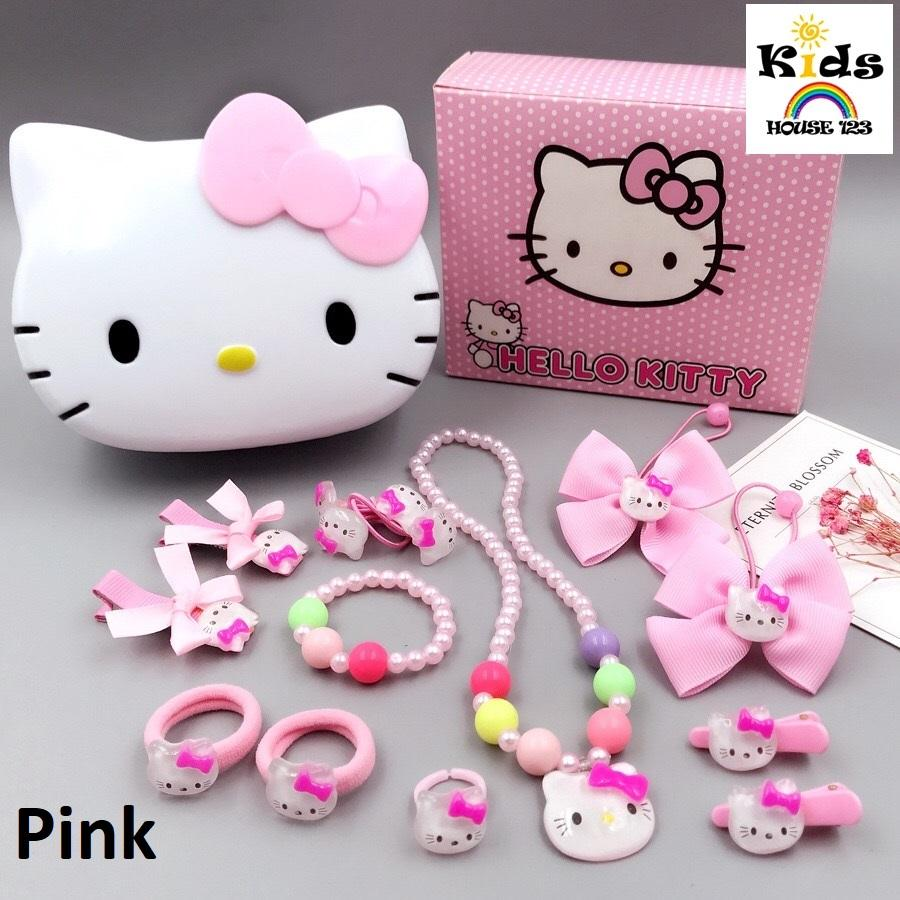 64ece83b4 Hello Kitty Jewelry / Hair Accessories Gift Set for Toddler Kids Children  Girl A019