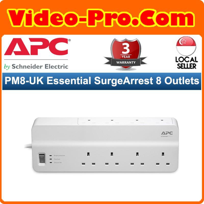 APC PM8-UK Essential SurgeArrest 8 Outlets 230V UK