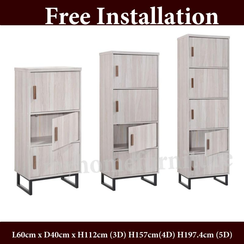 Jarvy 3/4/5 Doors Cabinet / Bookshelf (Free Delivery and Installation)