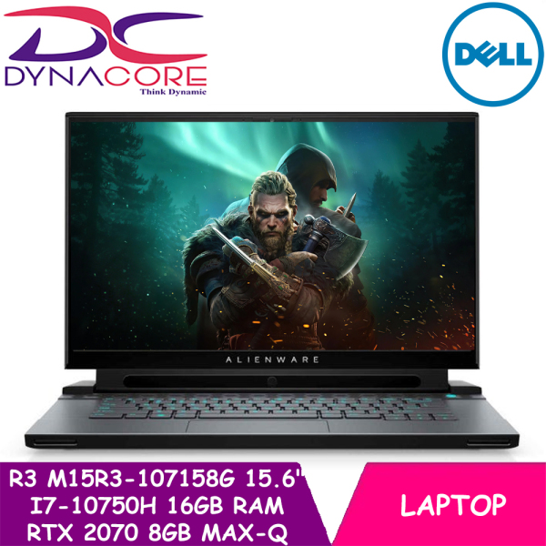 【DELIVERY IN 24 HOURS】 DYNACORE - DELL NEW ALIENWARE M15 R3 M15R3-107158G |Intel Core i7-10750H | 15.6 Full HD 144Hz IPS Display + Tobii | 16GB DDR4 Memory | 512GB M.2 NVMe SSD | NVIDIA RTX 2070 8GB Max-Q | Win 10 Home | 2yr Premium Support | M15R3