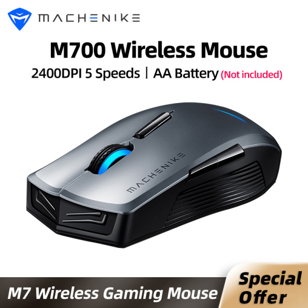 [In stock]Machenike M7 wireless mouse wireless and wired dual mode rechargeable mouse gaming mouse for PC desktop computer laotop notebook supported DOTA2,CSGO,GTA5, FORTNITE,PUBG,LOL