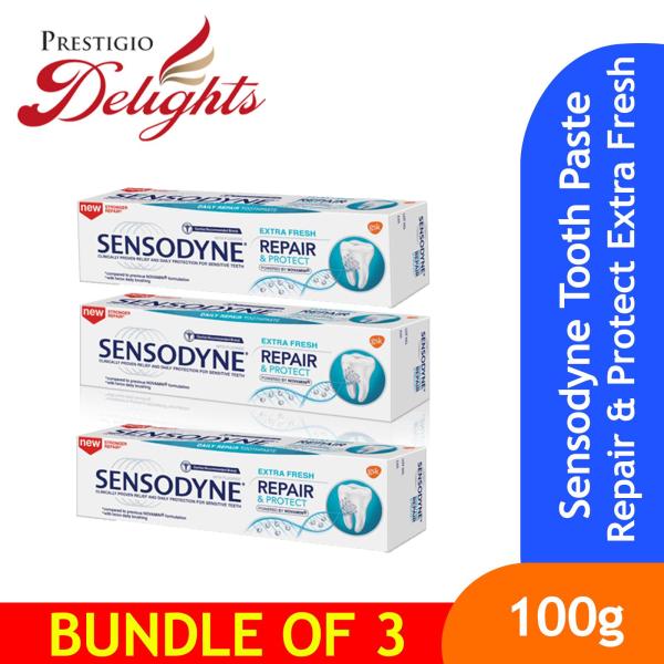 Buy Sensodyne Toothpaste Repair & Protect Extra Fresh 100g Bundle of 3 Singapore