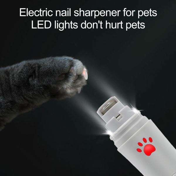 Điện Có Thể Sạc Lại Pet Nail Clipper, Tông Đơ Đánh Bóng, Dụng Cụ Làm Sạch Móng Vuốt Cho Chó Mèo