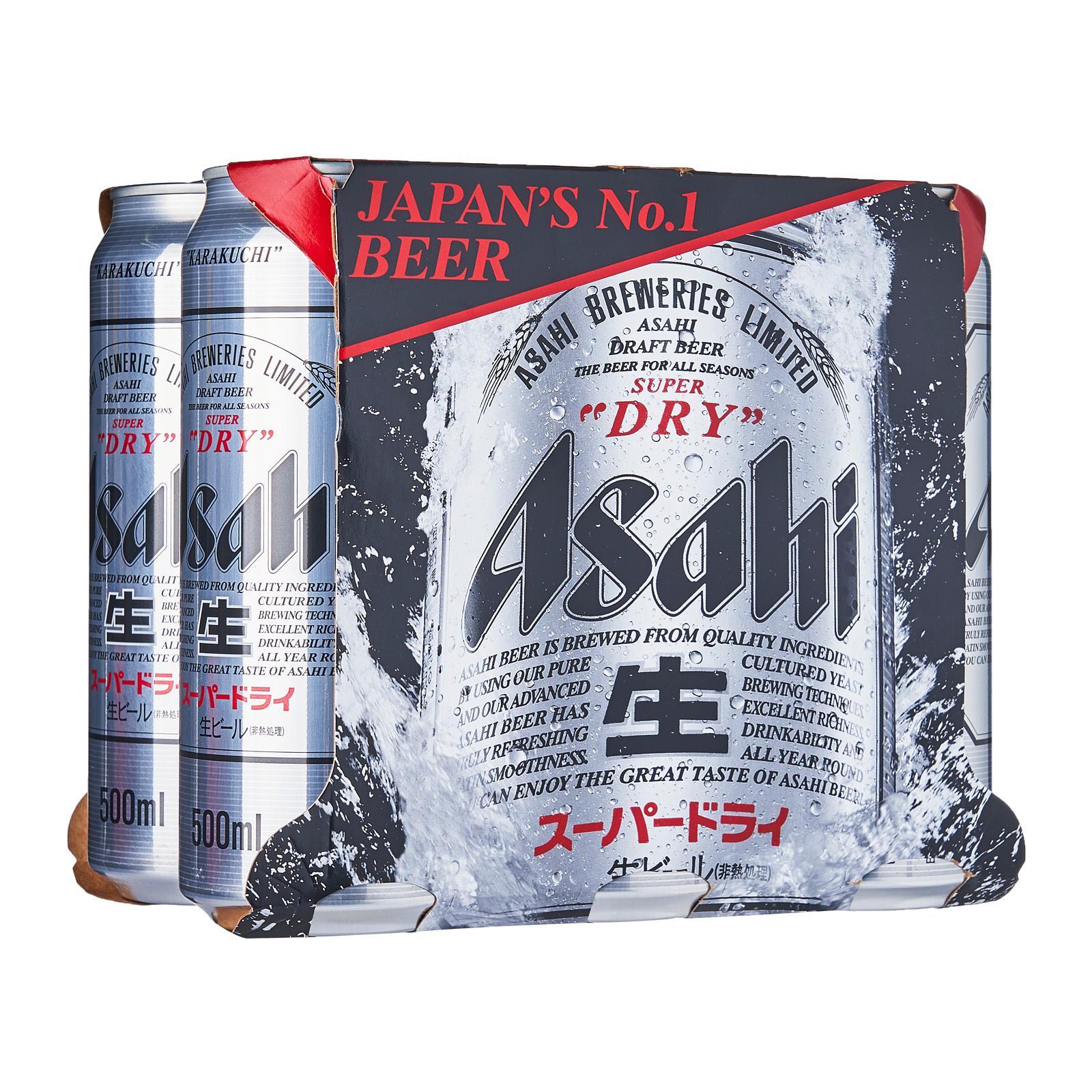 Asahi Super Dry 6 X 500Ml