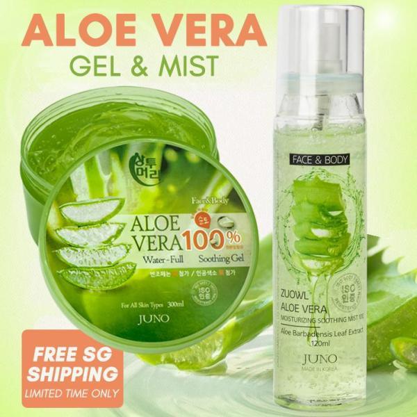 Buy ALOE VERA Moisturizing Soothing Mist / Gel JUNO Korea SG Ship Singapore