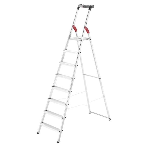 Hailo L60 Aluminium Safety Ladder (8 Steps)