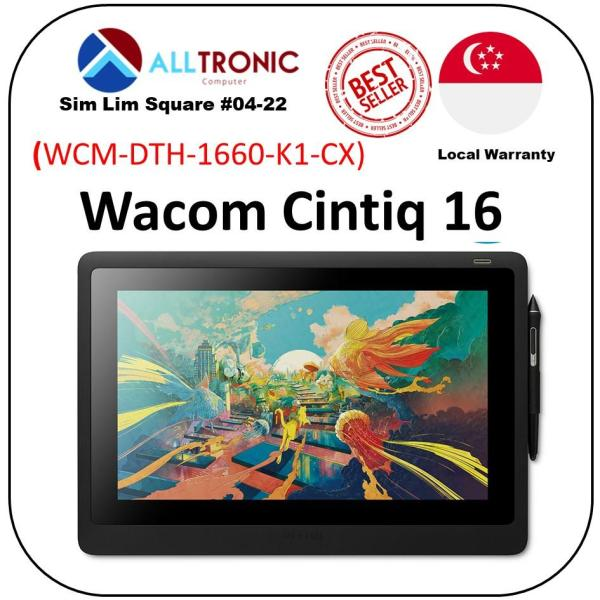 Wacom Cintiq 16 DTK-1660 Graphic Drawing Display Tablet / 1Yr Warranty/Singapore Authorised Reseller Alltronic