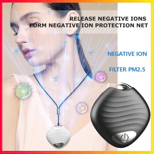 Máy lọc không khí có thể đeo Vòng cổ USB Không khí cá nhân Vòng cổ Ion âm Xe hơi Làm mát không khí Ionizer 30db Độ ồn thấp cho phấn hoa bụi PM2.5