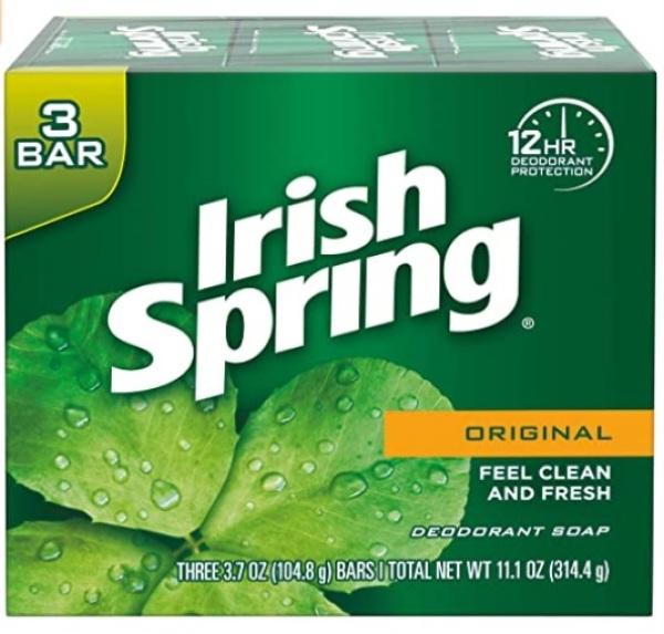 Buy Irish Spring Deodorant Bar Soap, Original, 3 Bar Singapore