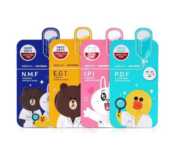 Buy [Mediheal] x LINE Friends Ampoule Mask Set 27ml X 10pcs Singapore