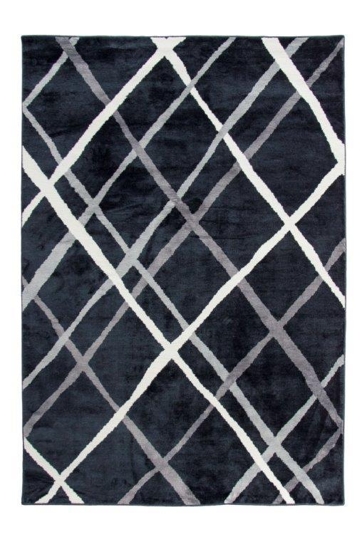 Maali Machine Tufted Trellis Stripes Carpet (130x190cm)
