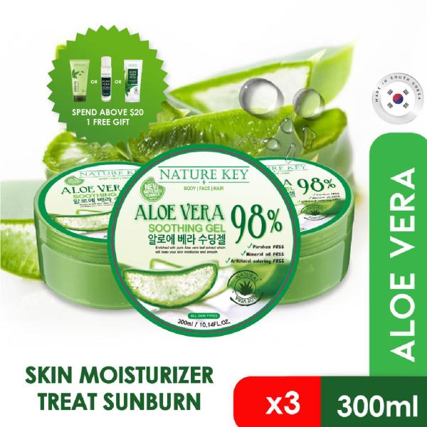 Buy NATURE KEY 98% Aloe Vera Soothing Gel 300ml [3 JARS BUNDLE] Singapore
