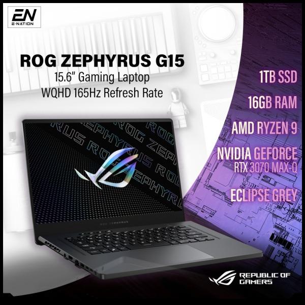 ASUS - ROG Zephyrus G15 15.6 165Hz (3ms) WQHD IPS-Level Gaming Laptop - AMD Ryzen 9 5900Hs - 16GB Memory - NVIDIA GeForce RTX 3070 Max-Q - 1TB SSD | GA503QR (2021) | [Same Day Delivery]