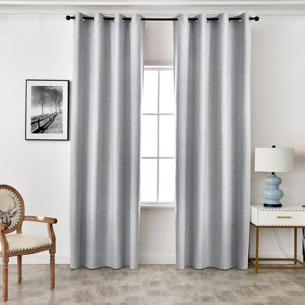 New design 100% blackout Solid Color Curtains for Living Room 1PCS