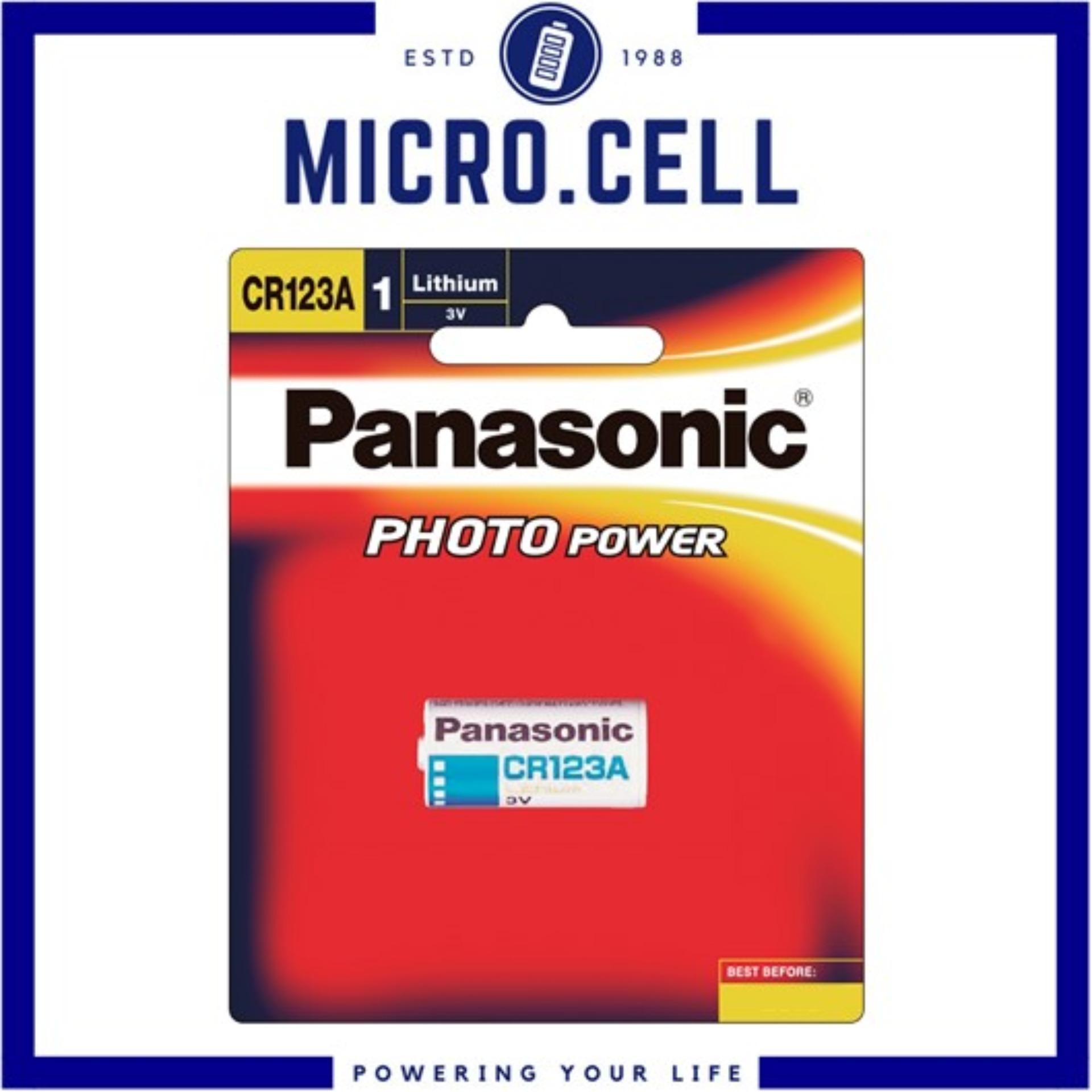 Panasonic CR123A Photo Lithium 3V CR123 Battery