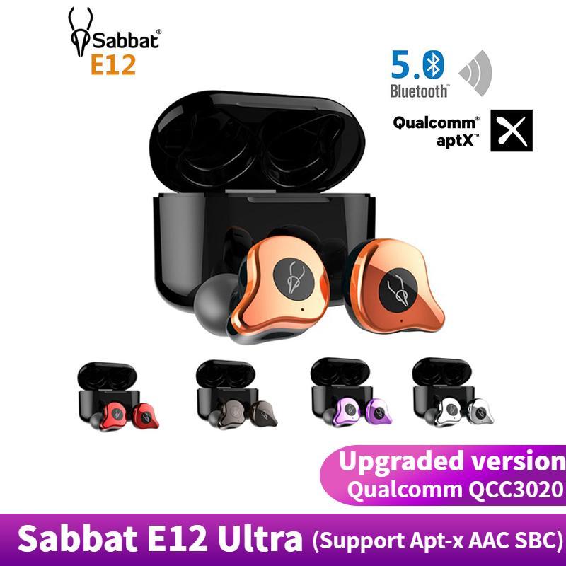 Original Sabbat E12 Ultra Qualcomm QCC3020 TWS Bluetooth 5 0 True Wireless  earbuds Wireless Headset Wireless HiFi Monitor Noise Isolation