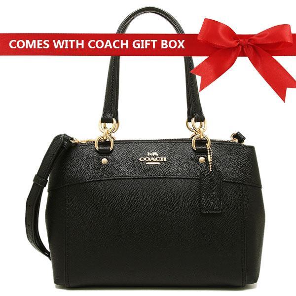 Coach Mini Brooke Carryall Handbag Black   Gold   F25395 + Gift Receipt 79dcde133c