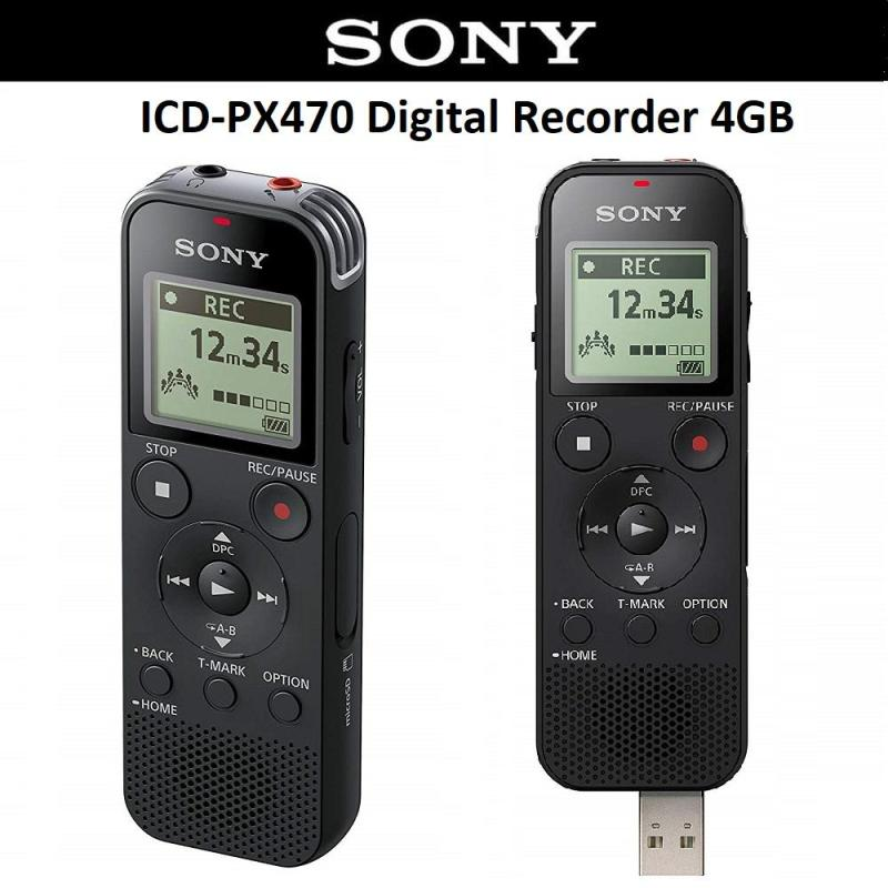 Sony ICD-PX470 Digital Voice Recorder Direct USB Built in 4GB with Expandable MicroSD Slot Singapore