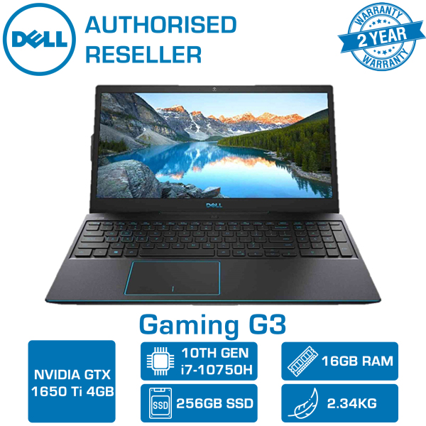【DELIVERY IN 24 HOURS】 Dell Gaming G3 3500-107114GL Gaming Laptop | 15.6 FHD 120hz | Intel 10th Gen i7 | 16GB RAM | 256 SSD + 1TB HDD | GTX1650TI 4GB Graphics | 3500-107114GL
